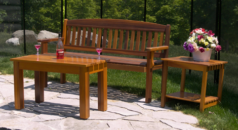 Coffee and End tables come in 3 different sizes. All built with clear red  cedar and all screws hidden. Upgrade you dock or patio with a quality  Western ... - ATPONDS: Red Cedar Patio Furniture