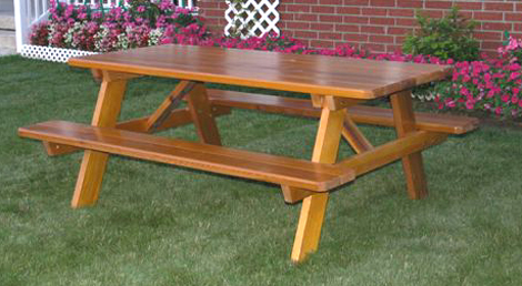MO72 Western Rectangle Picnic Table 44Wx44Dx30H Picnictable