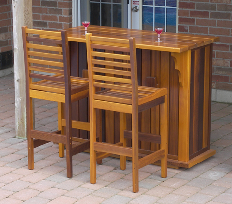 Western Octagon Patio Bar Table Has A 20 Plastic Liner In The Center For Your Ice And Drinks With An Opening Lid To Keep Them Shade Before Serving